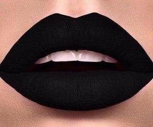 beautiful, black&white, and lipstick image
