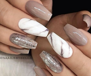 beauty, nails, and white image
