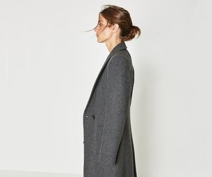 coat, style, and wool image