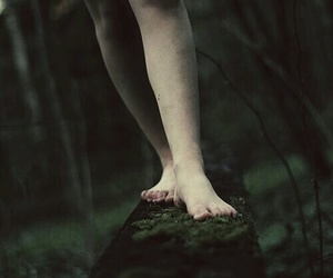 girl, step, and woods image