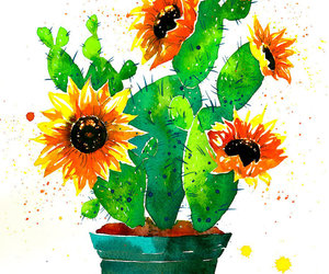 art, painting, and cactus image