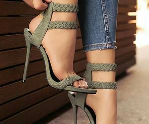 accessories, green, and heels image
