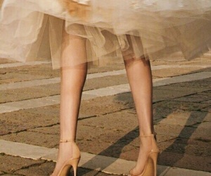dress, shoes, and beige image