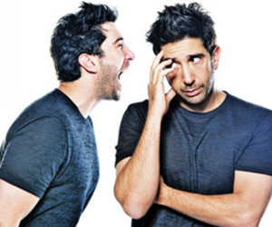 ross, David Schwimmer, and friends image