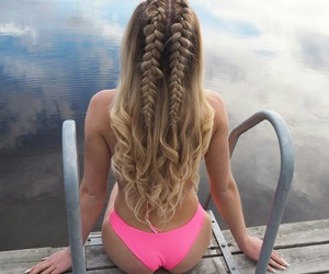 braid, beauty, and girl image