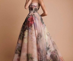 gown and flowers image