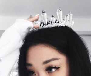 asian, beauty, and crown image