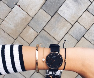 black, watch, and clock image