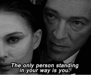 black swan, black and white, and quotes image