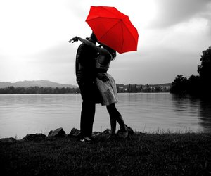 love, red, and couple image