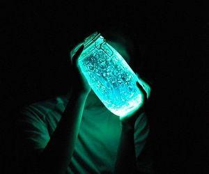 blue, jar, and light image