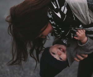 baby, mom, and child image