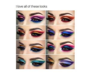 art, makeup looks, and colorful image