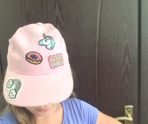 cool, hat, and pink image