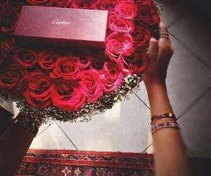 rose, cartier, and flowers image