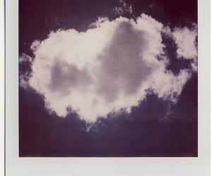 photo, clouds, and polaroid image