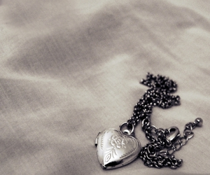 locket, necklace, and silver image