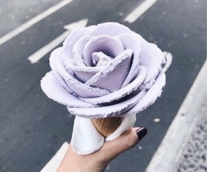 flowers, snack, and ice cream image