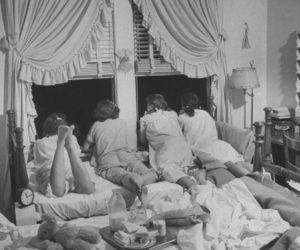 50s and sleepover image