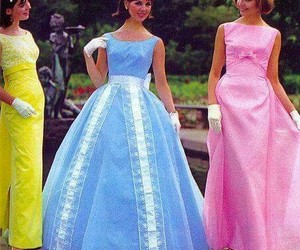 1960s, brunette, and organza image