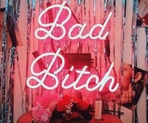 light, pink, and bad bitch image