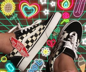 black, checkerboard, and old skool image