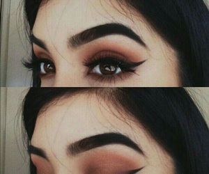 makeup, eyes, and eyebrows image