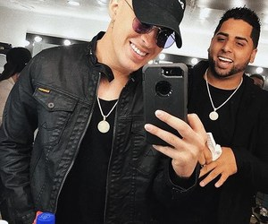 bad bunny, dj luian, and que guapo bb image