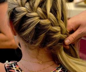 blonde, braid, and cabelo image