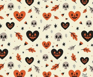 wallpaper, Halloween, and skull image