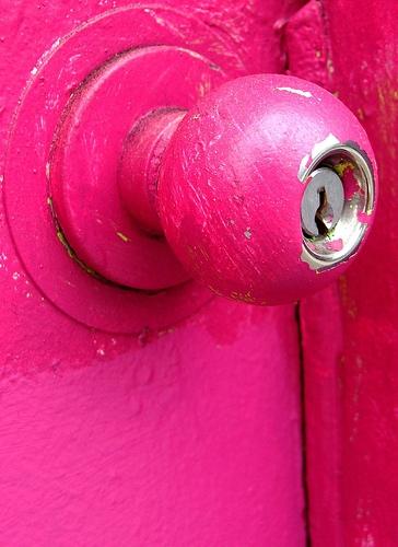 door and pink image