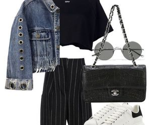 black, Polyvore, and casual image