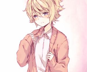 beautiful boy, pink color, and digital art image