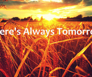 sunset, text, and tomorrow image