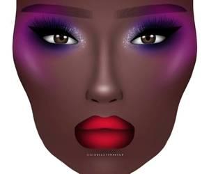 art, makeup, and artsy image