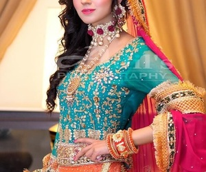 bride, pakistani, and dress image