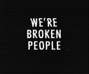 broken, quotes, and black image