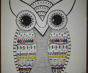 art, zentangle, and colors image