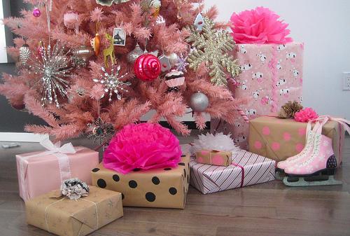 pink, christmas, and present image