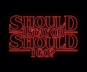 stranger things, quotes, and red image