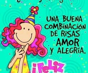 pastel, frases en español, and cumpleaños image