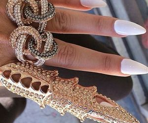 nails, style, and jewelry image