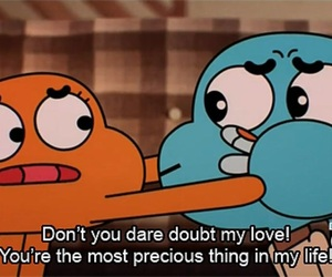 love, cartoon, and gumball image