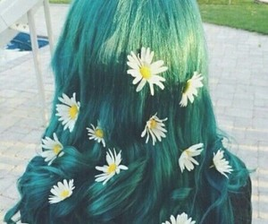 chic, flores, and cabello image