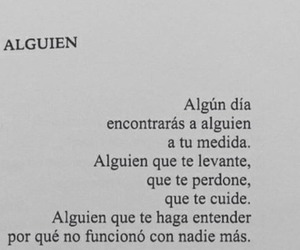 love, frases, and someone image