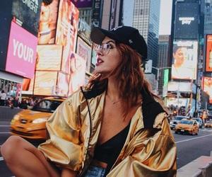 beauty, big city, and fashion image