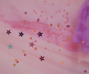 pink, stars, and kawaii image