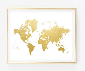 bedroom decor, map, and travel image