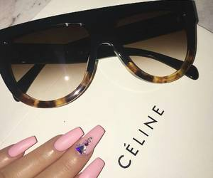 fashion, nails, and sunglasses image