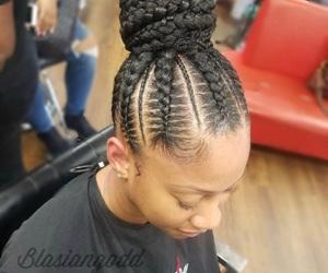 braids, bun, and cornrows image
